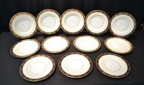 (12) Minton Tiffany & Co. Dinner Service Plates