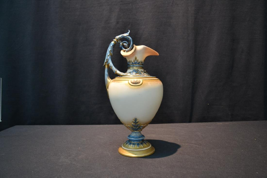 "ROYAL WORCESTER EWER ; 1309 - 6 1/2' x 13"" - 4"