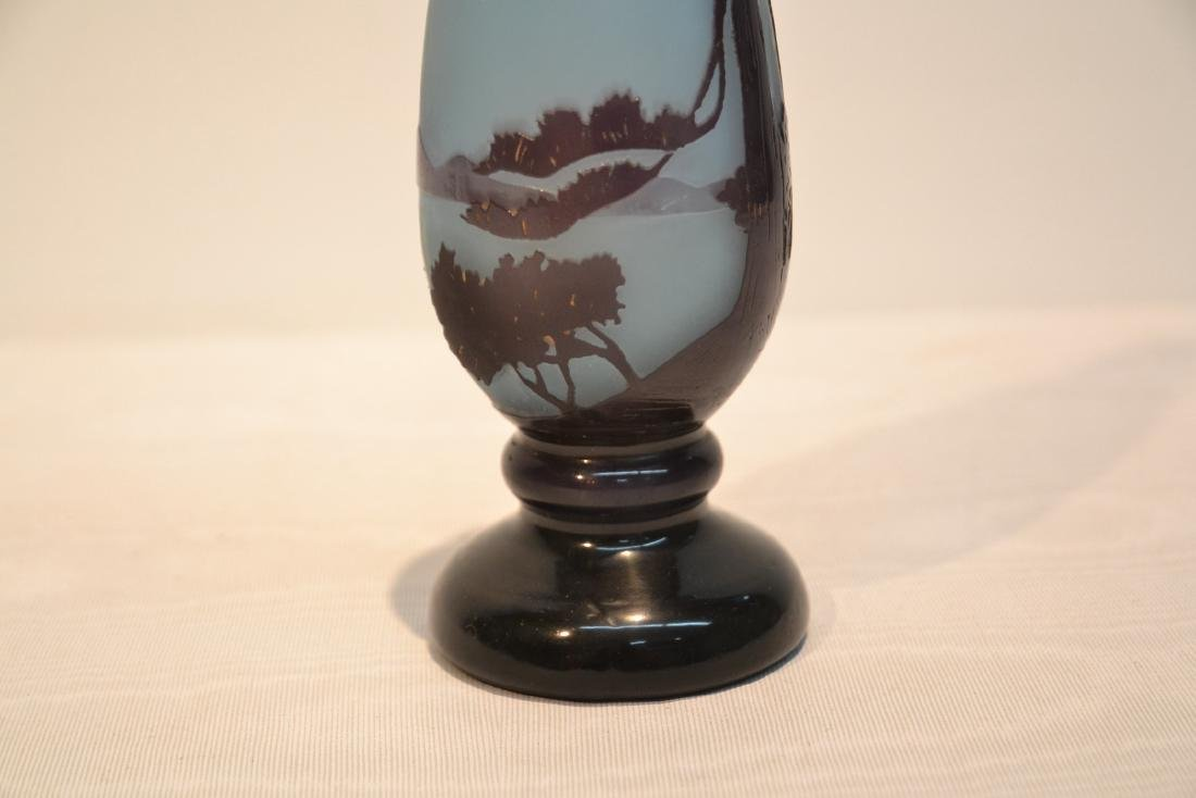DELATTE NANCY CAMEO GLASS PERFUME BOTTLE - 4