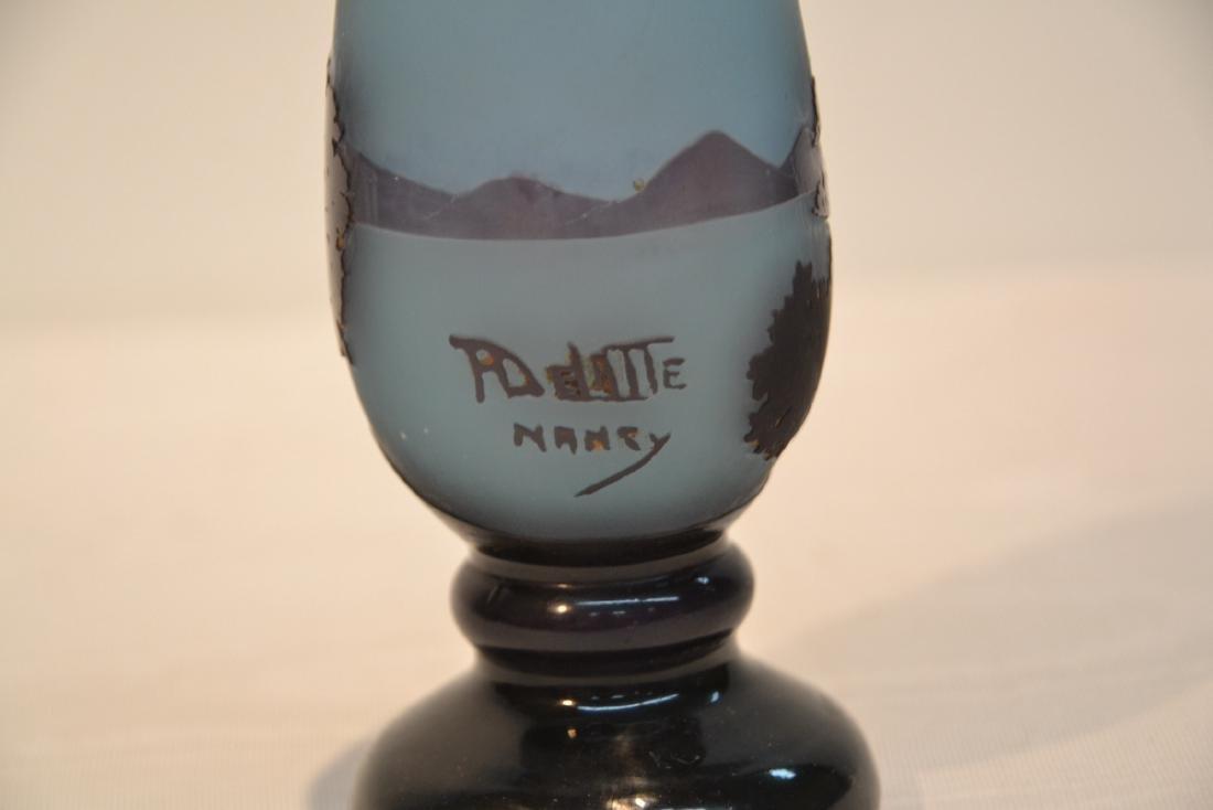 DELATTE NANCY CAMEO GLASS PERFUME BOTTLE - 8
