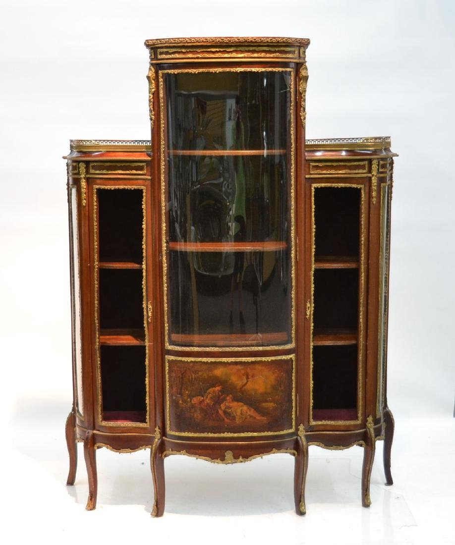 FRENCH VERNIS MARTIN BRONZE MOUNTED TRIPLE