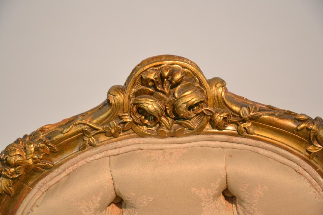 (Pr) CARVED GILT WOOD BOUDOIR CHARS WITH - 6
