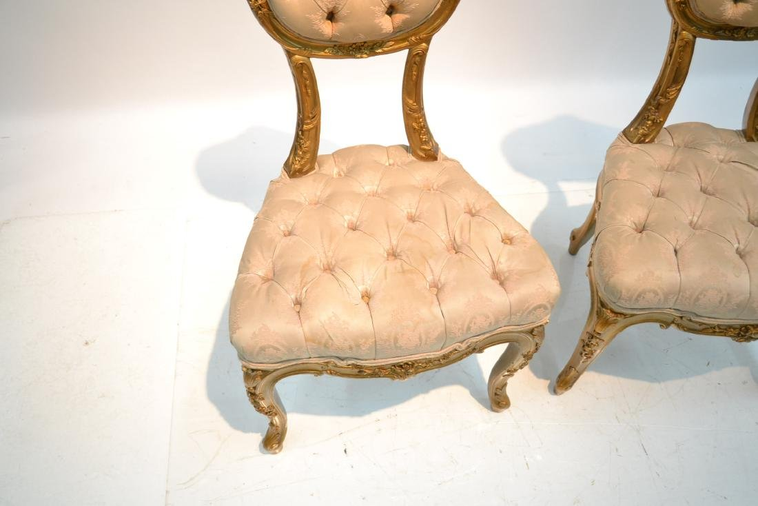 (Pr) CARVED GILT WOOD BOUDOIR CHARS WITH - 7