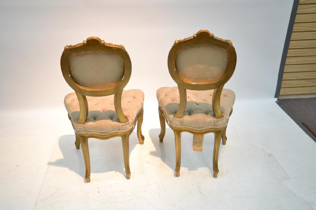 (Pr) CARVED GILT WOOD BOUDOIR CHARS WITH - 8