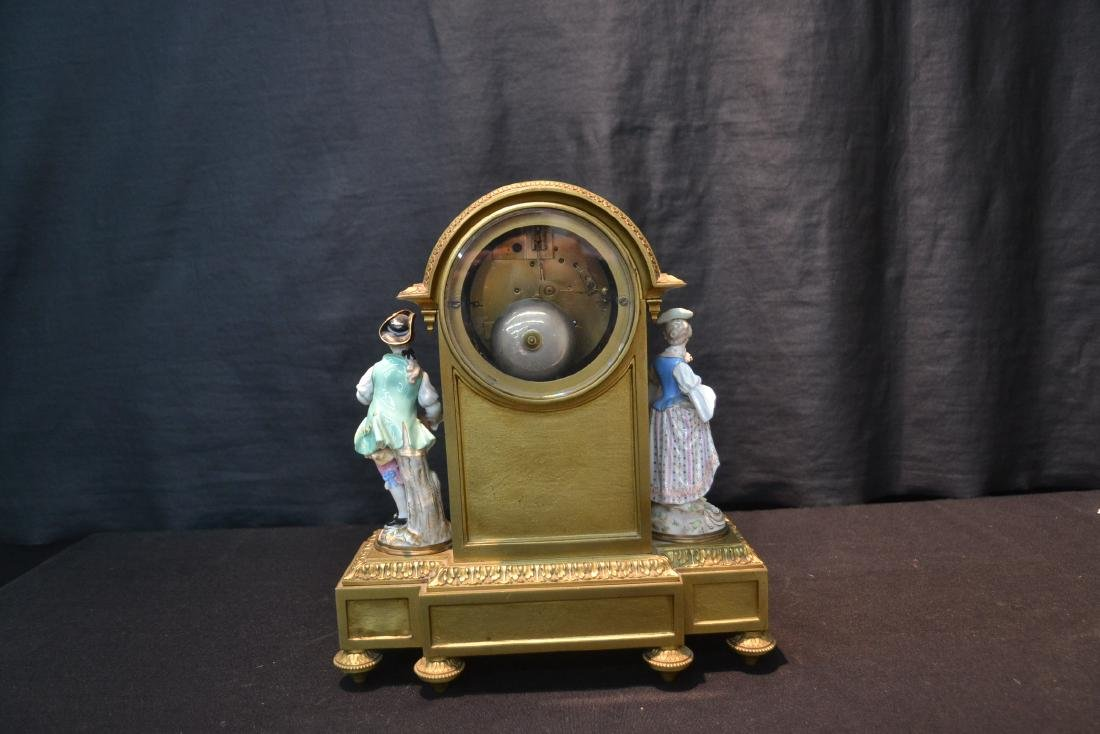 FRENCH BRONZE MANTLE CLOCK WITH - 7