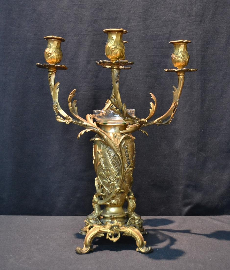CHRISTOFLE DORE BRONZE 4-LIGHT CANDELABRA