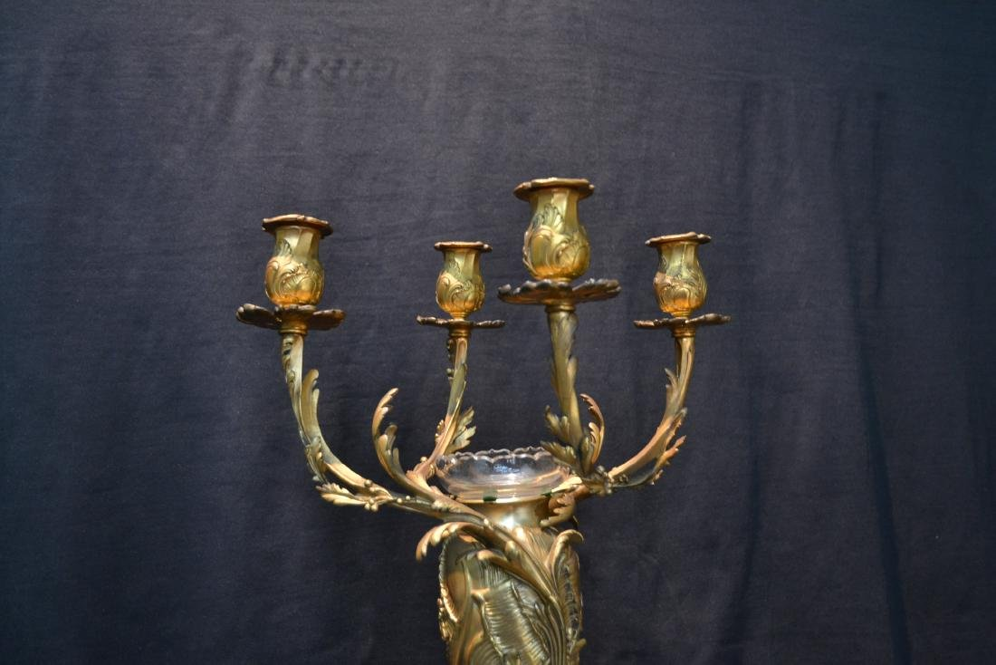 CHRISTOFLE DORE BRONZE 4-LIGHT CANDELABRA - 4