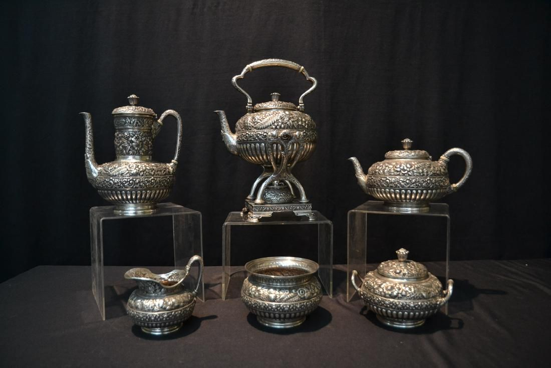 19thC HAND CHASED TIFFANY & Co. MAKERS STERLING