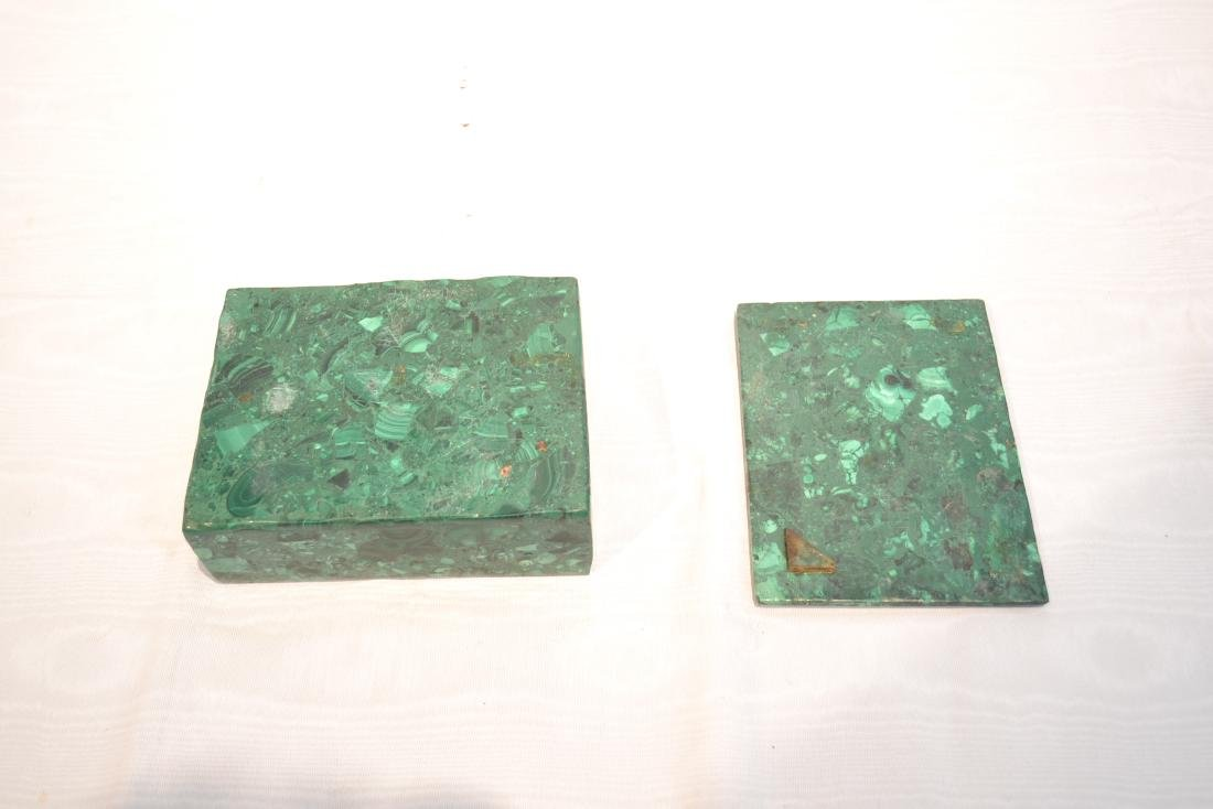 SOLID MALACHITE BOX WITH BRONZE MOUNTS - 7