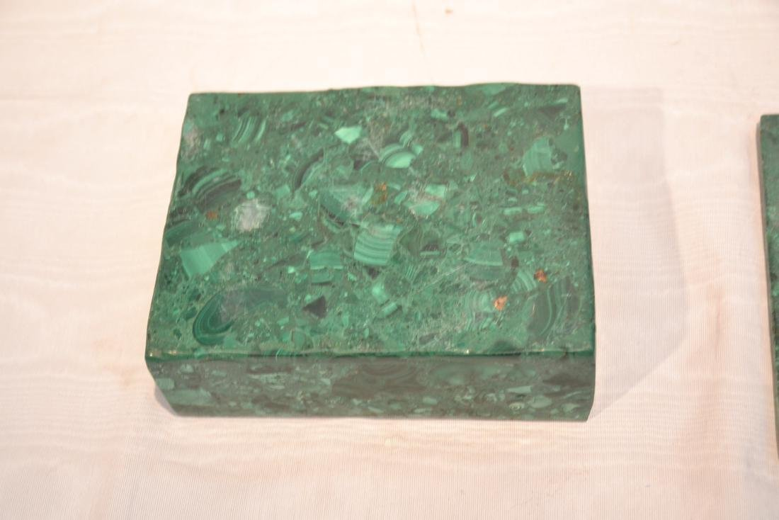 SOLID MALACHITE BOX WITH BRONZE MOUNTS - 8