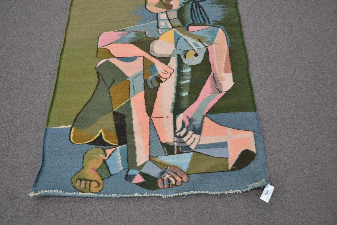 PICASSO STYLE TAPESTRY WITH FIGURE OF WOMAN - 10