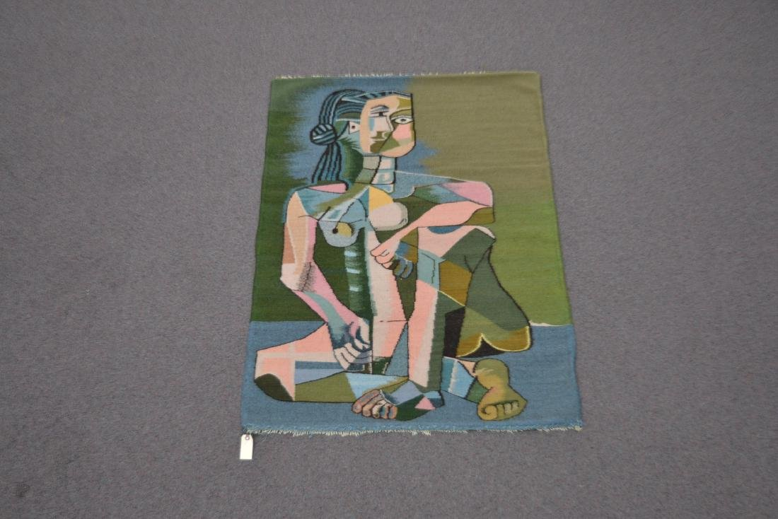 PICASSO STYLE TAPESTRY WITH FIGURE OF WOMAN - 2