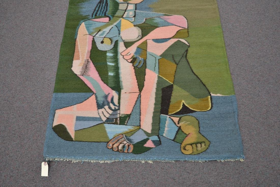 PICASSO STYLE TAPESTRY WITH FIGURE OF WOMAN - 3