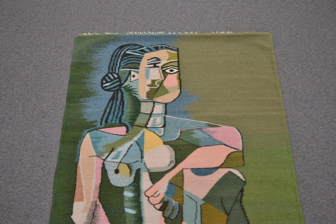 PICASSO STYLE TAPESTRY WITH FIGURE OF WOMAN - 4
