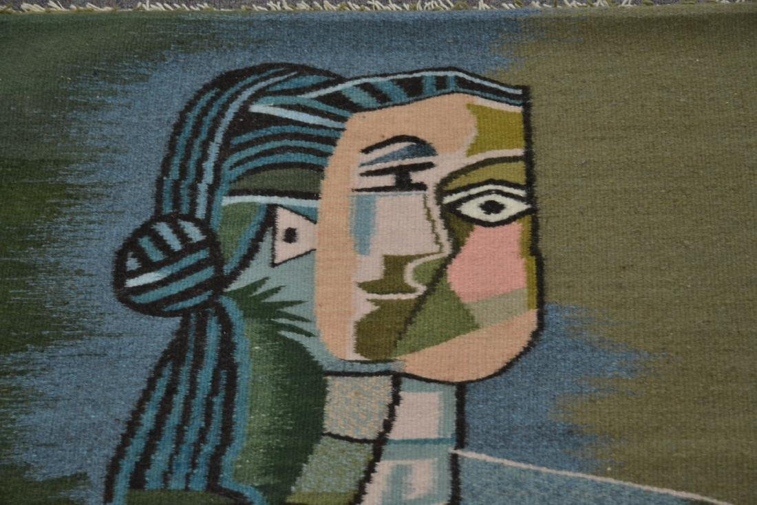 PICASSO STYLE TAPESTRY WITH FIGURE OF WOMAN - 5