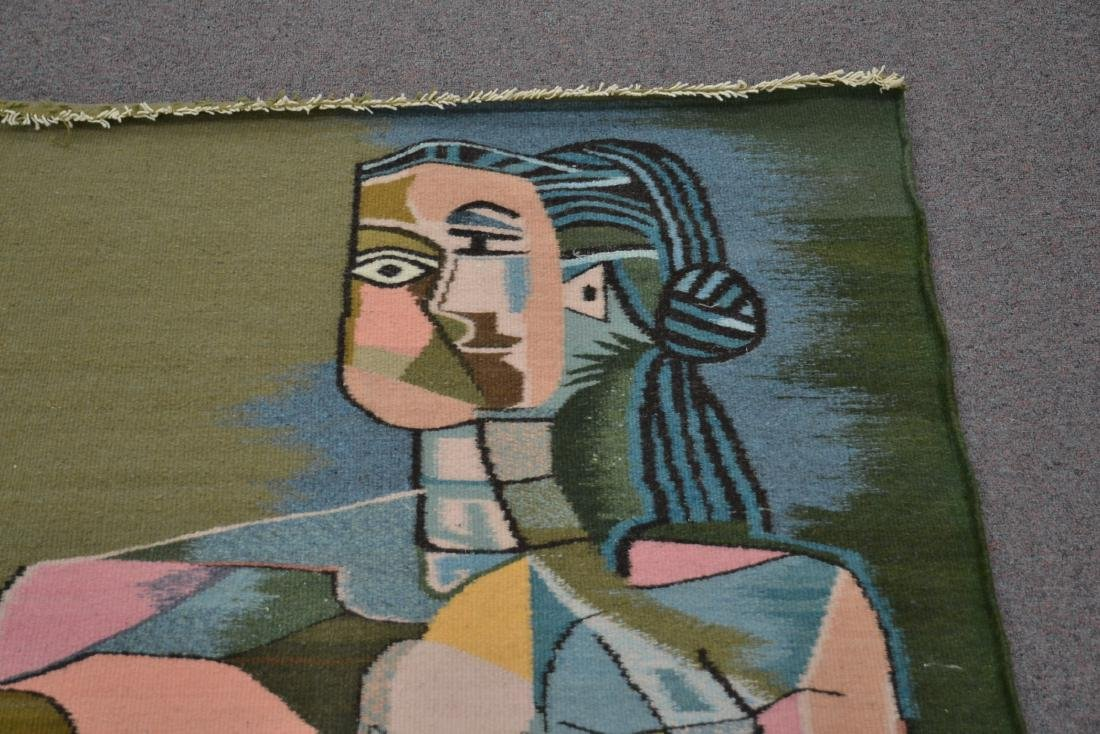 PICASSO STYLE TAPESTRY WITH FIGURE OF WOMAN - 9