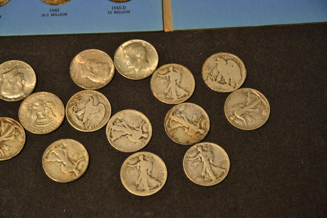 (43) SILVER LIBERTY HALF DOLLARS (1937-1947) & - 5