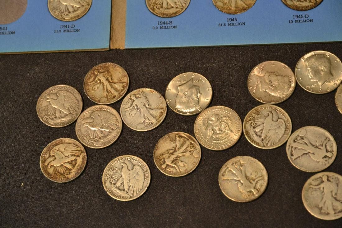 (43) SILVER LIBERTY HALF DOLLARS (1937-1947) & - 6