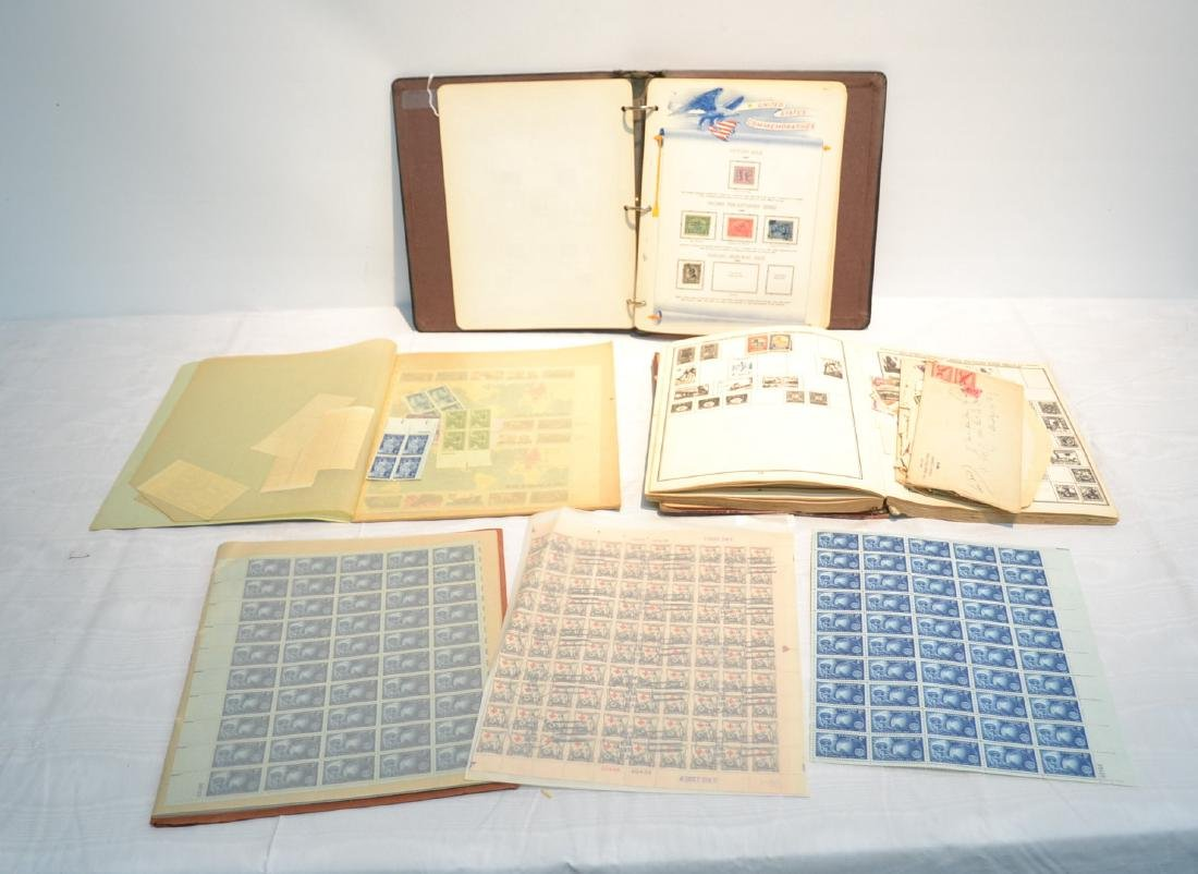 (2) FILES OF UNCUT STAMP SHEETS , THE IDEAL STAMP