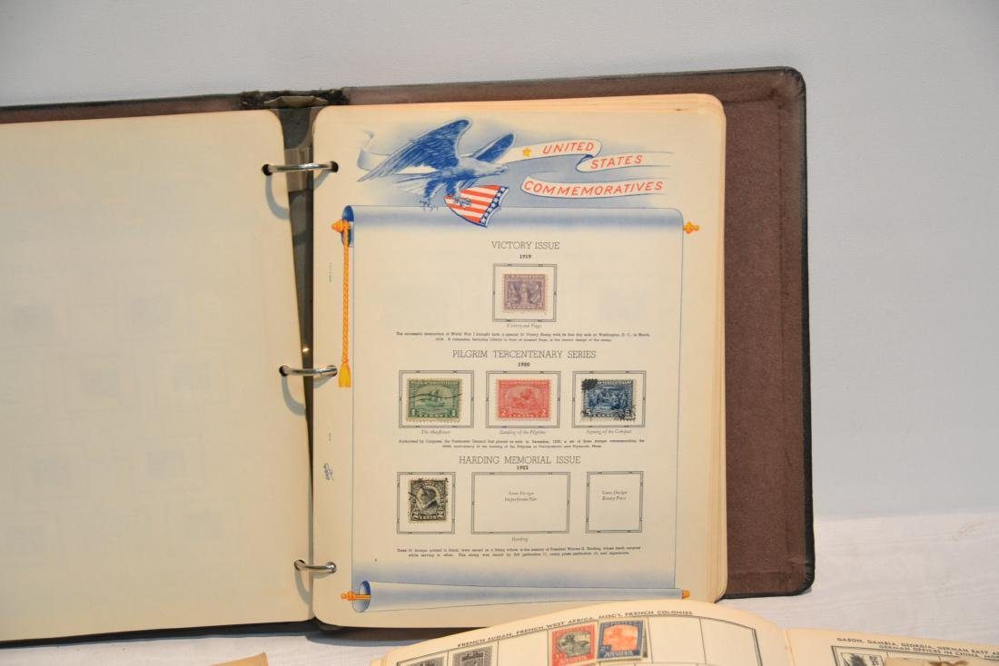 (2) FILES OF UNCUT STAMP SHEETS , THE IDEAL STAMP - 2