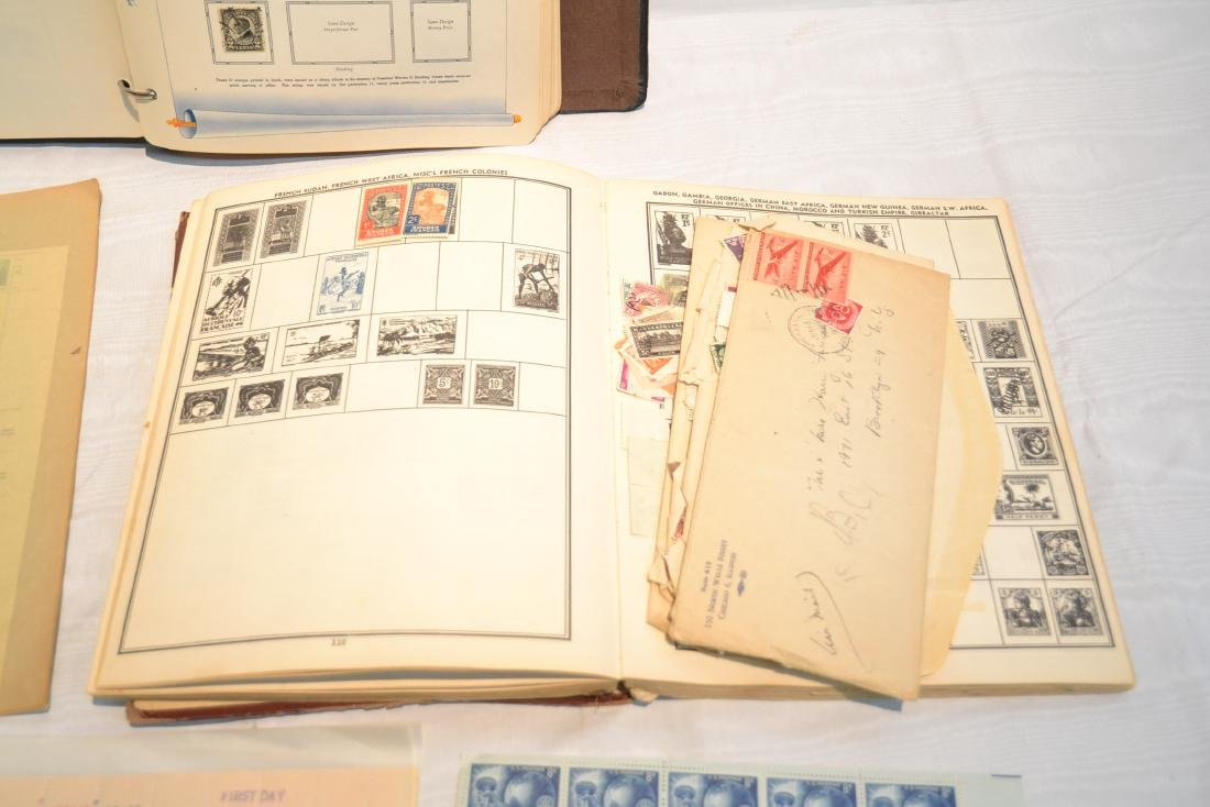 (2) FILES OF UNCUT STAMP SHEETS , THE IDEAL STAMP - 3