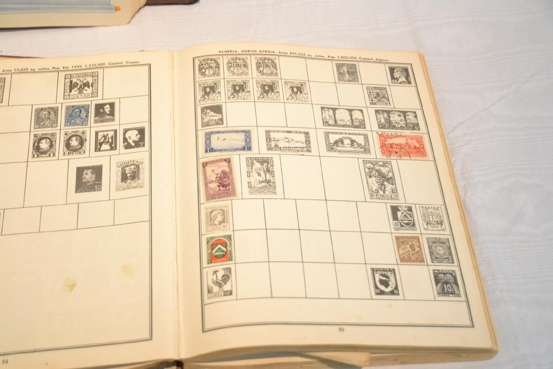 (2) FILES OF UNCUT STAMP SHEETS , THE IDEAL STAMP - 4