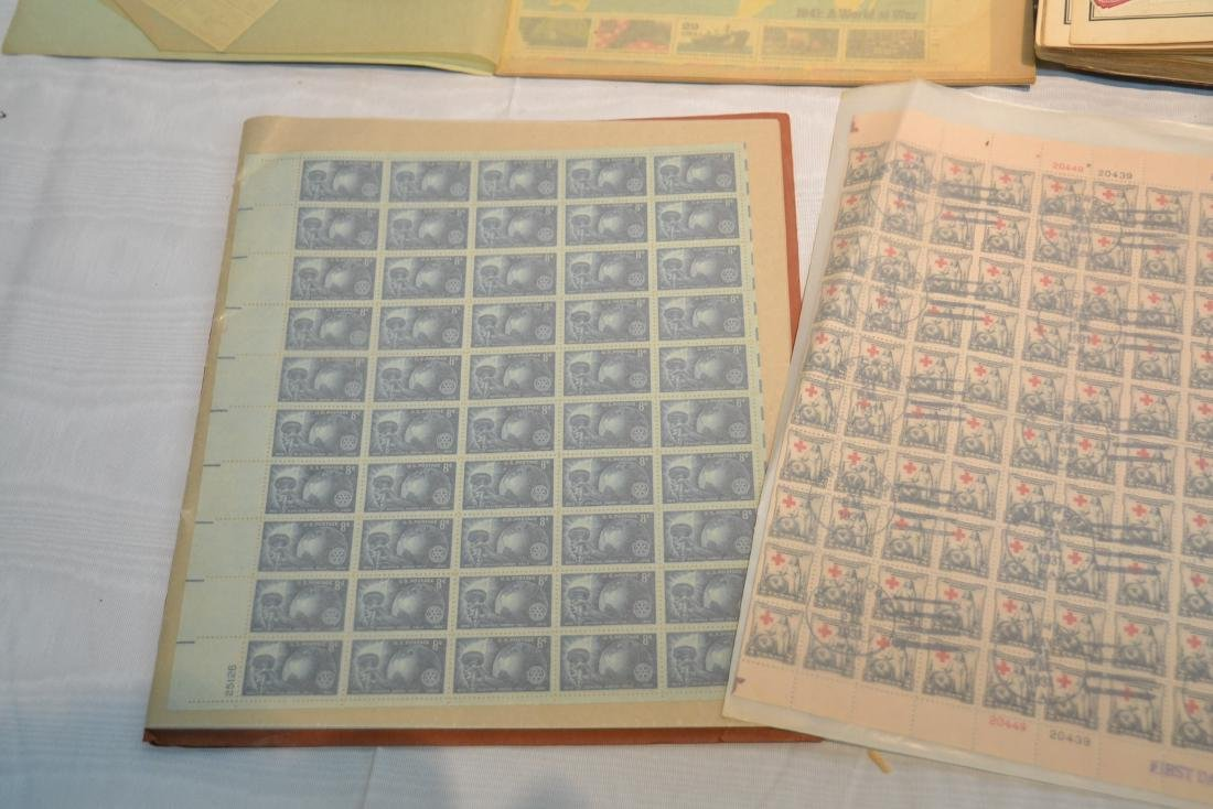 (2) FILES OF UNCUT STAMP SHEETS , THE IDEAL STAMP - 7