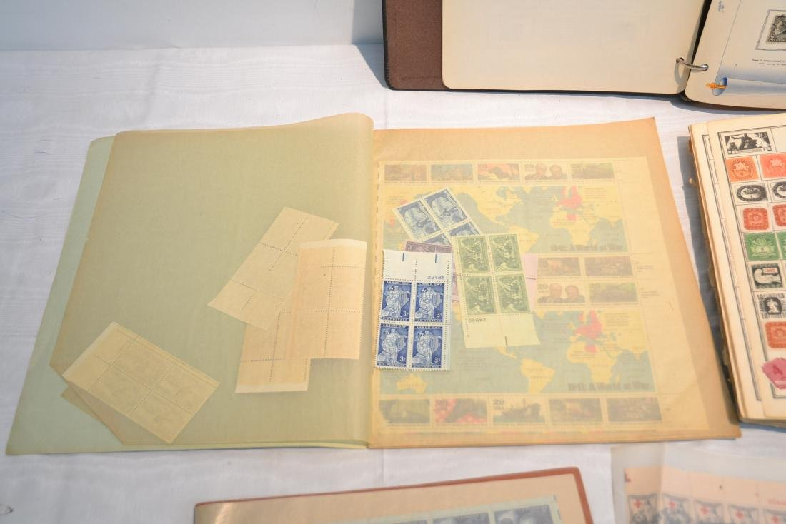 (2) FILES OF UNCUT STAMP SHEETS , THE IDEAL STAMP - 8