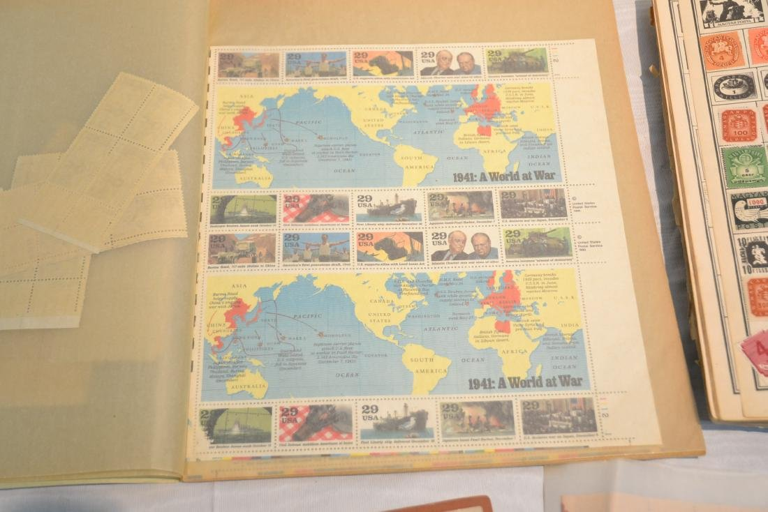 (2) FILES OF UNCUT STAMP SHEETS , THE IDEAL STAMP - 9