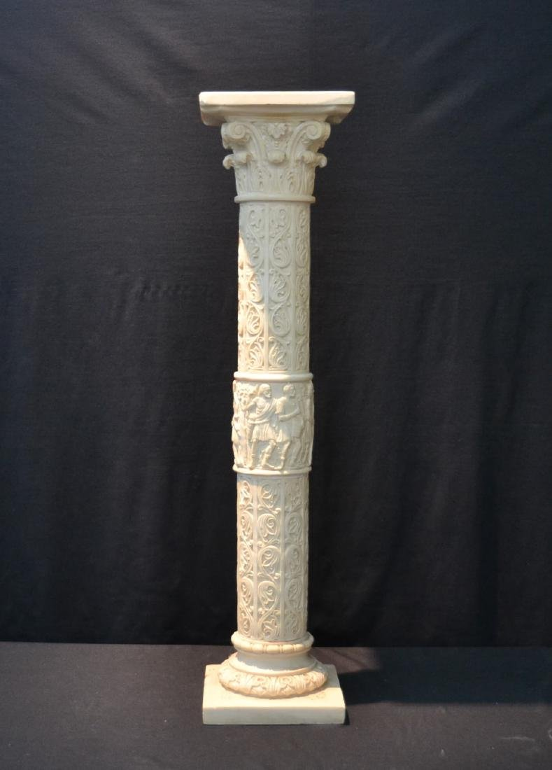 CONTEMPORARY RESIN PEDESTAL WITH CLASSICAL