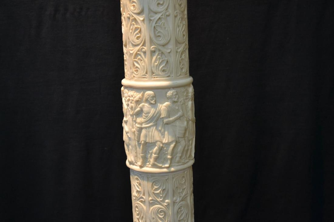 CONTEMPORARY RESIN PEDESTAL WITH CLASSICAL - 2