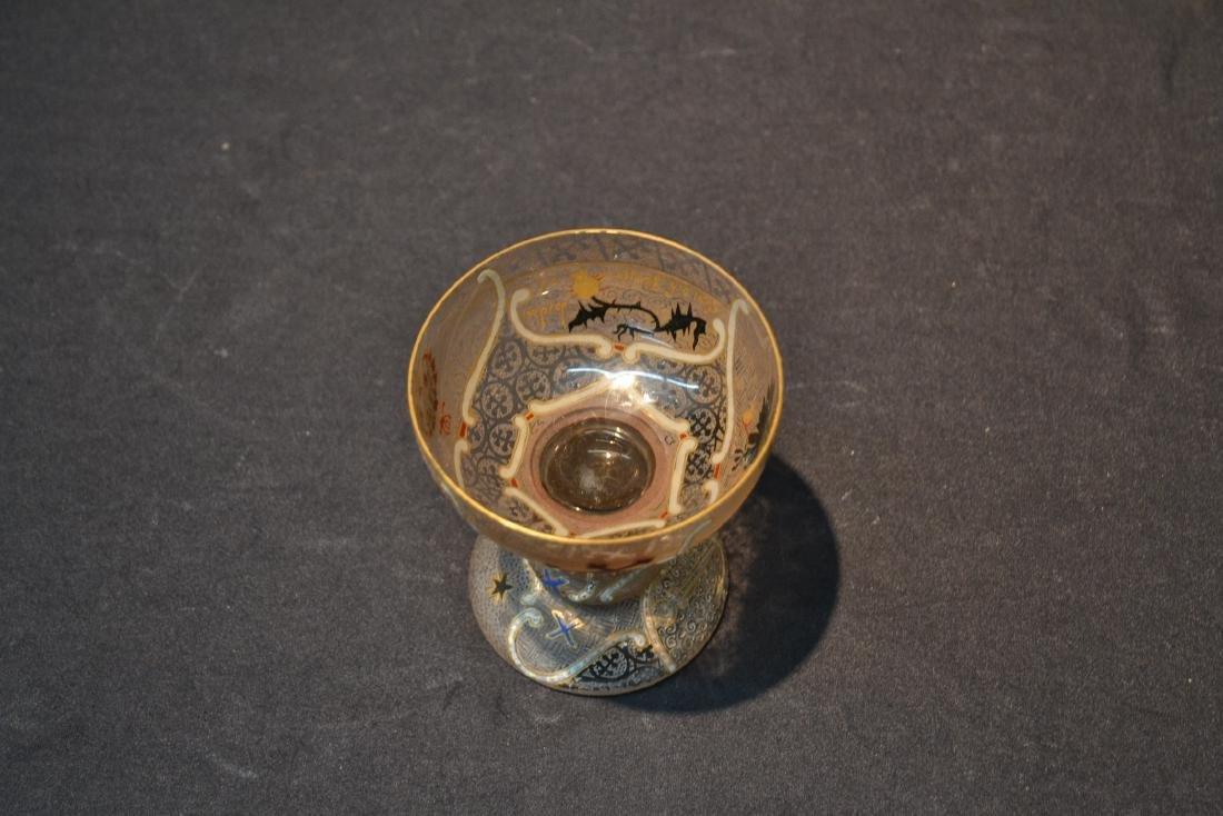 RARE DAUM NANCY COMMEMORATIVE ENAMELED CUP - 8