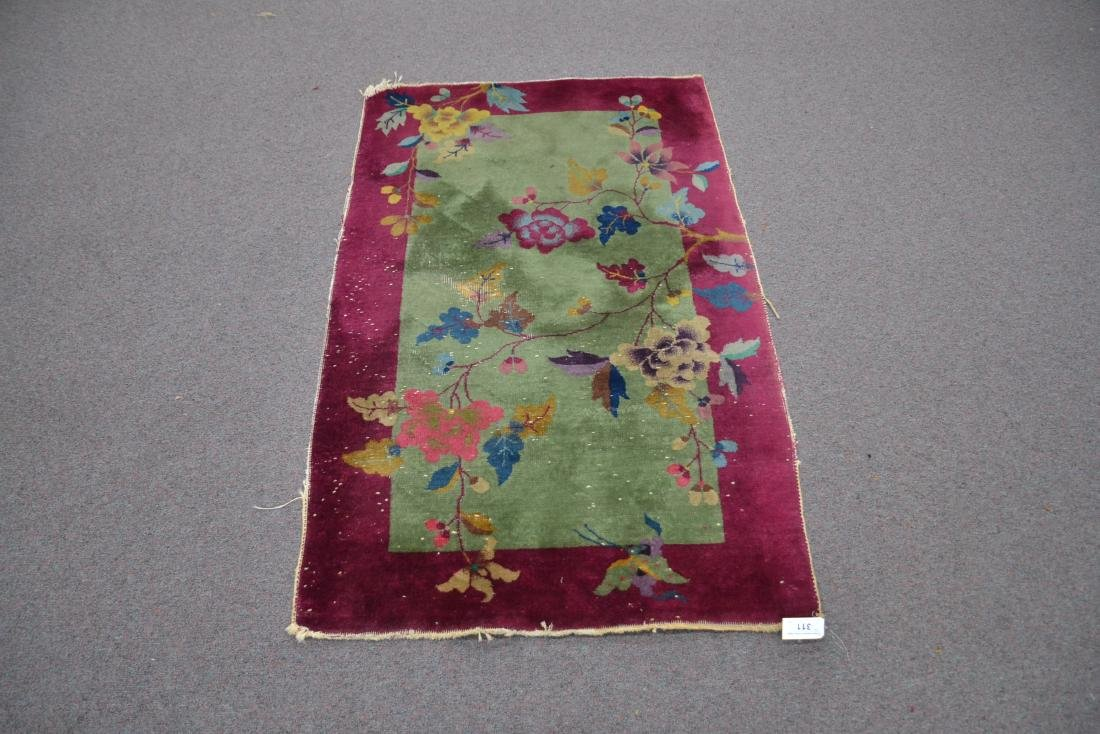 3' x 5' CHINESE DECO RUG WITH PLUM BORDER - 2