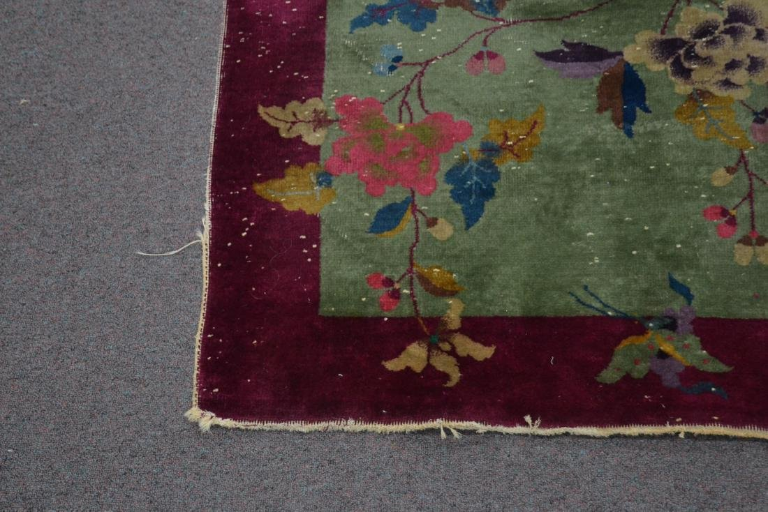 3' x 5' CHINESE DECO RUG WITH PLUM BORDER - 3