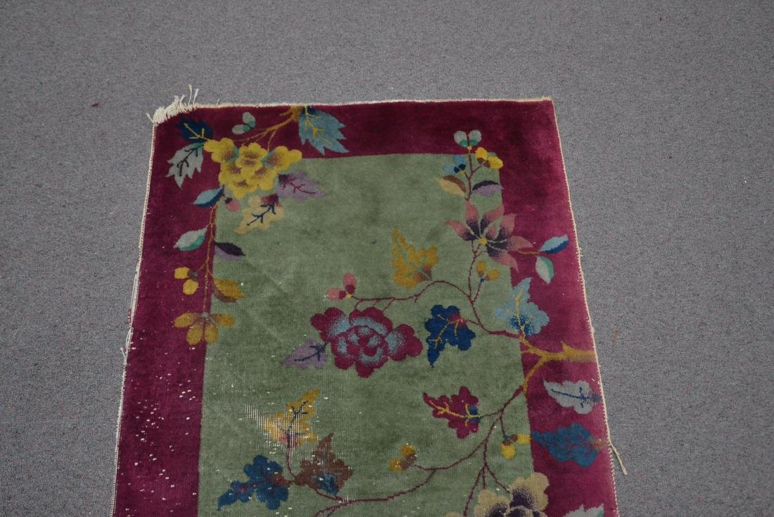 3' x 5' CHINESE DECO RUG WITH PLUM BORDER - 4