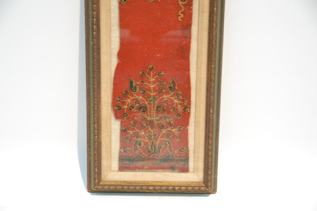 FRAMED PIECE OF TAPESTRY THAT WAS PART OF - 5