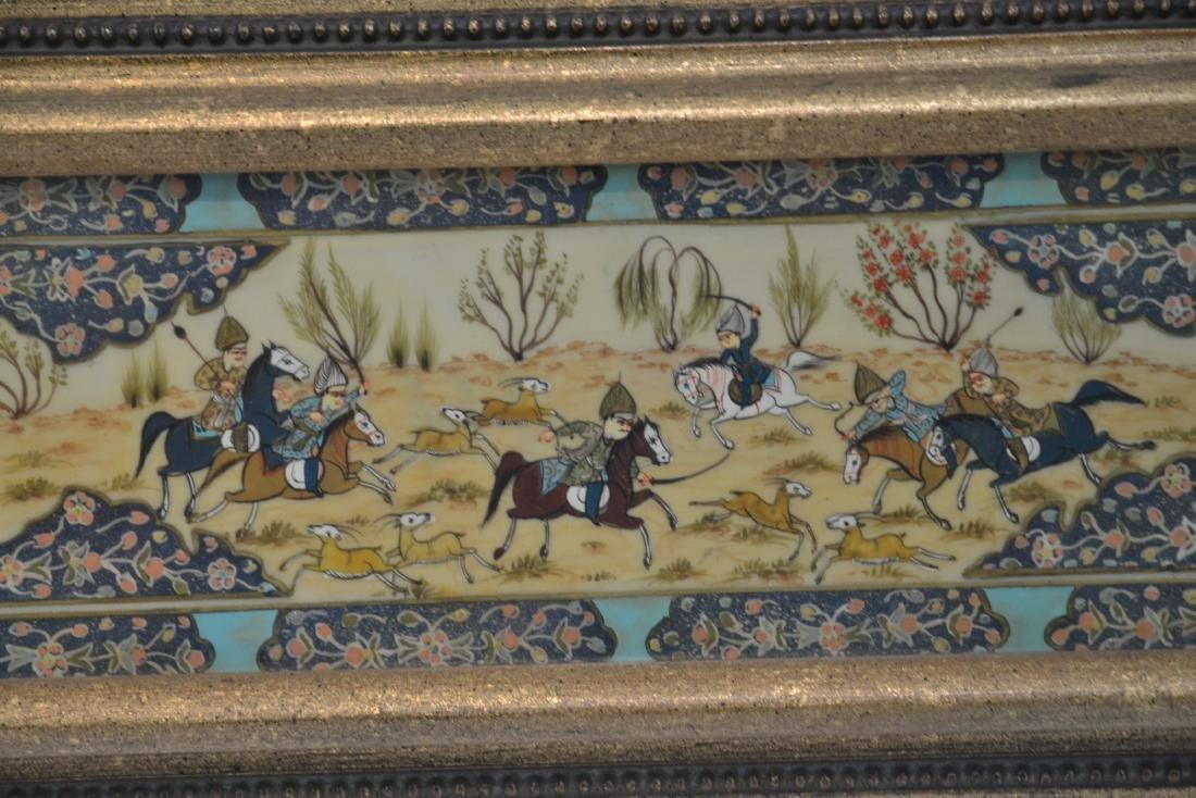 HAND PAINTED PERSIAN BATTLE SCENE - 4
