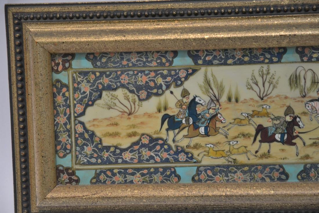 HAND PAINTED PERSIAN BATTLE SCENE - 5