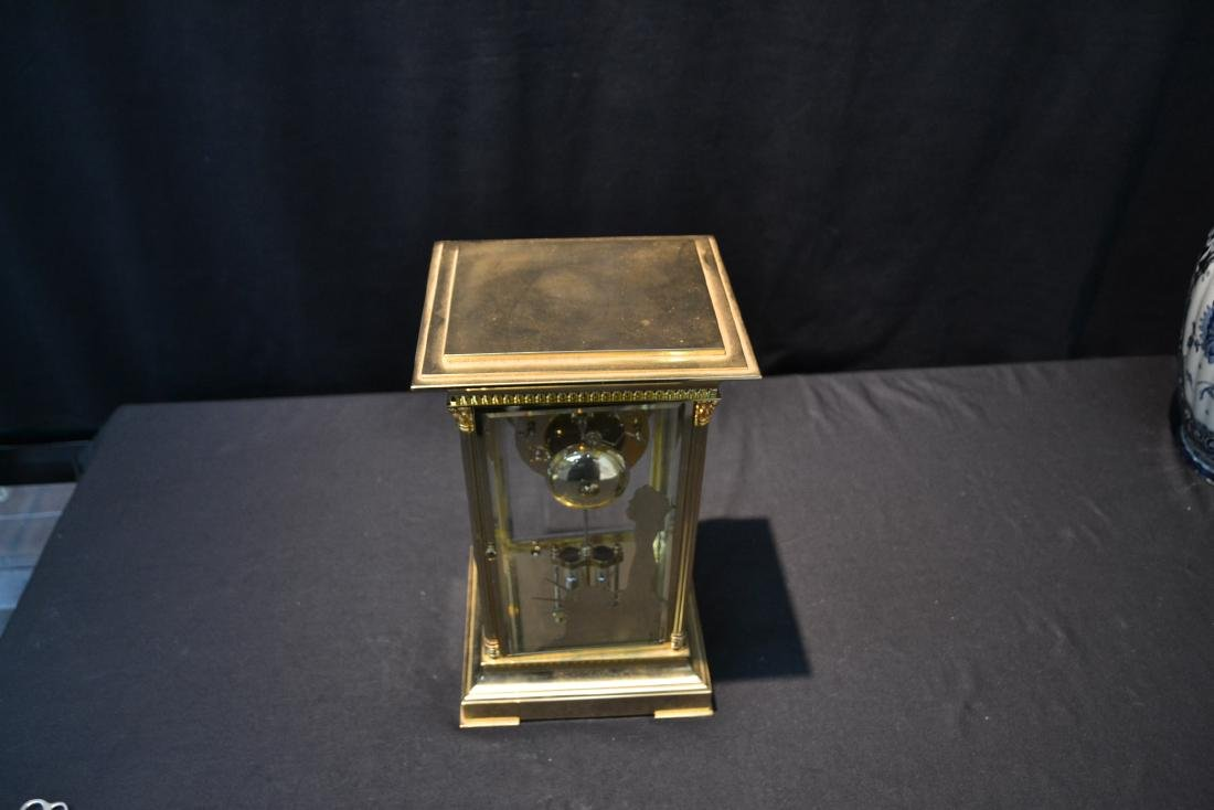 """""""THE LIBERTY CLOCK"""" L'EPEE FRENCH BRONZE & CRYSTAL - 10"""