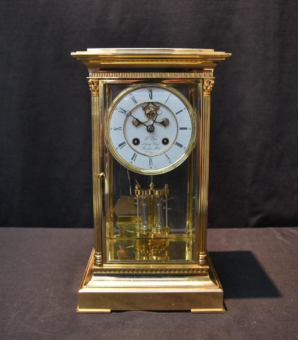 """""""THE LIBERTY CLOCK"""" L'EPEE FRENCH BRONZE & CRYSTAL"""