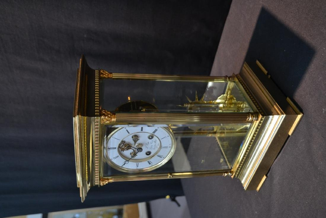 """""""THE LIBERTY CLOCK"""" L'EPEE FRENCH BRONZE & CRYSTAL - 3"""