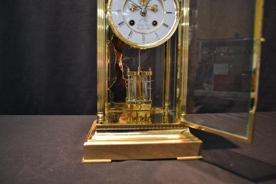 """""""THE LIBERTY CLOCK"""" L'EPEE FRENCH BRONZE & CRYSTAL - 4"""