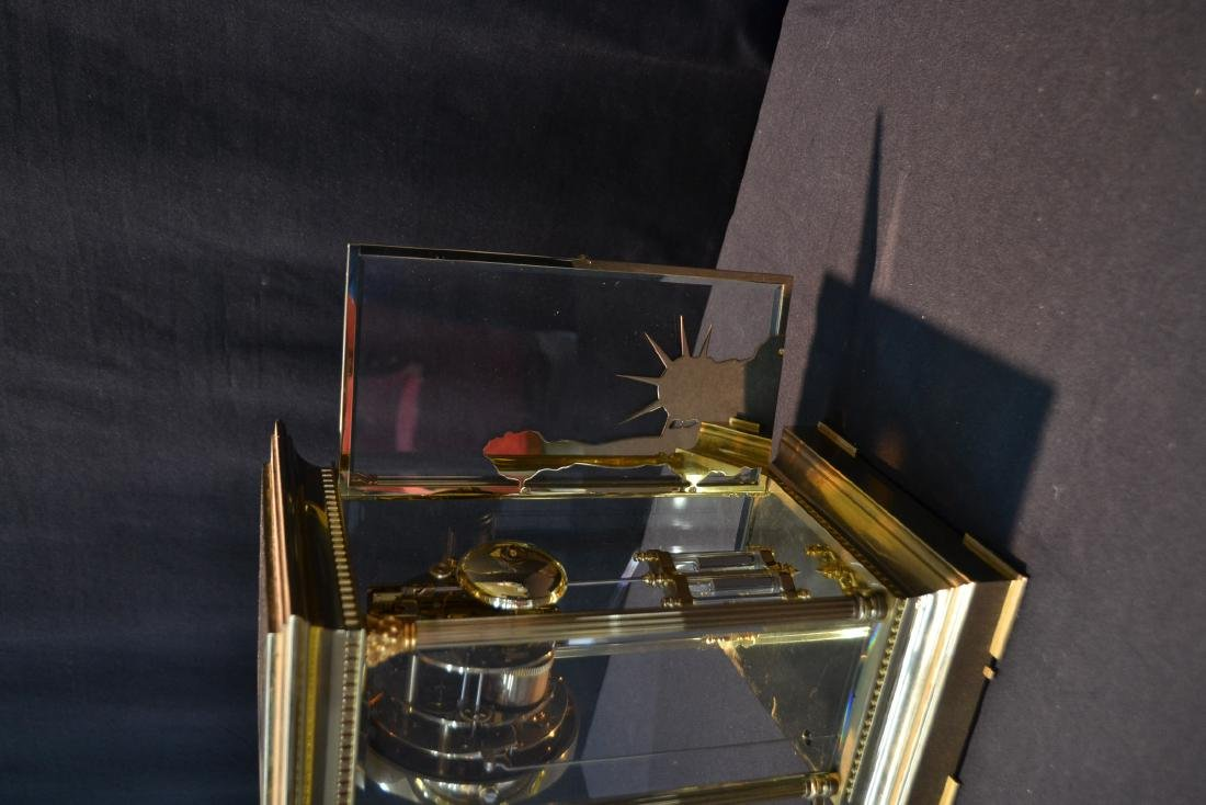 """""""THE LIBERTY CLOCK"""" L'EPEE FRENCH BRONZE & CRYSTAL - 5"""