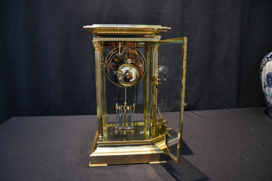 """""""THE LIBERTY CLOCK"""" L'EPEE FRENCH BRONZE & CRYSTAL - 6"""