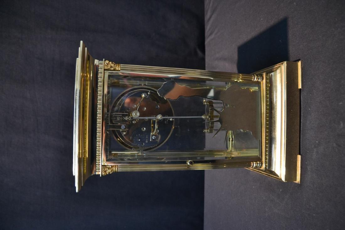 """""""THE LIBERTY CLOCK"""" L'EPEE FRENCH BRONZE & CRYSTAL - 9"""