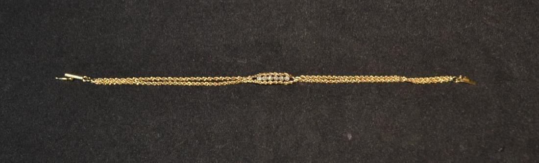 14kt GOLD & DIAMOND BRACELET