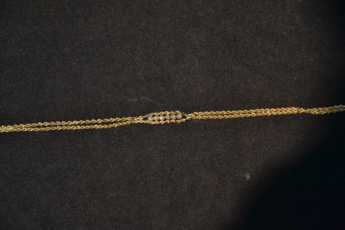 14kt GOLD & DIAMOND BRACELET - 3