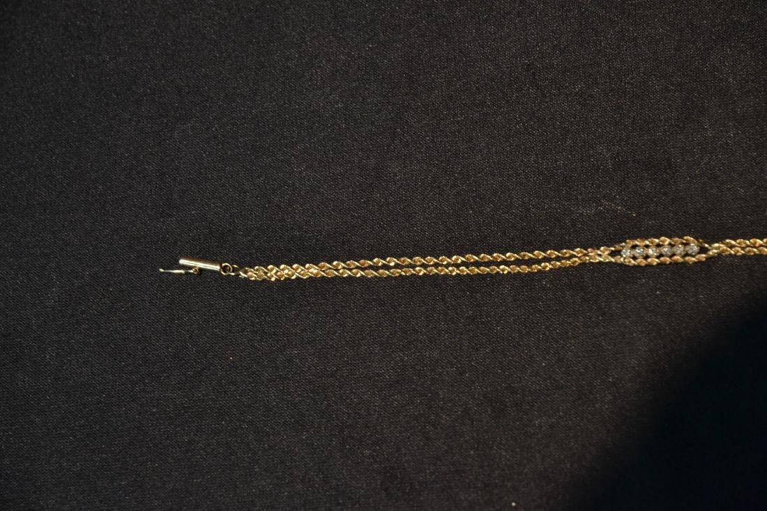 14kt GOLD & DIAMOND BRACELET - 4
