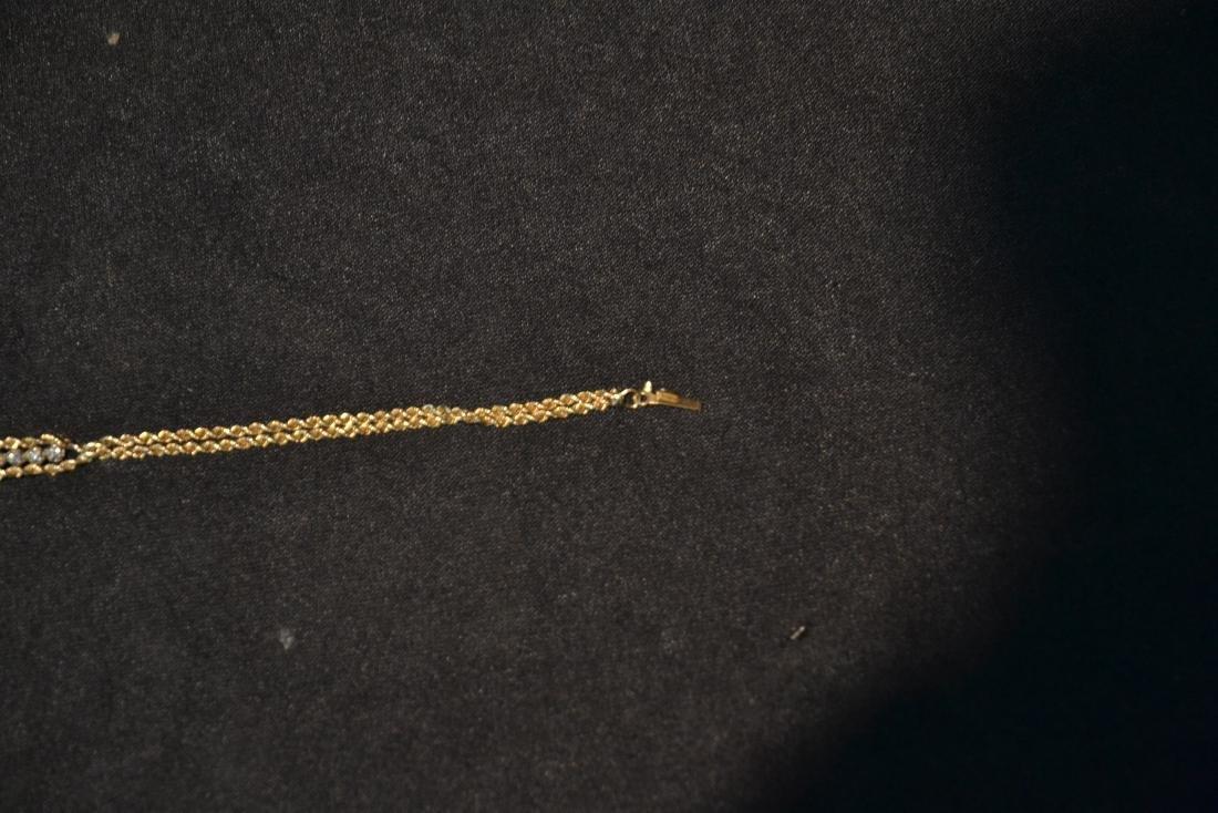 14kt GOLD & DIAMOND BRACELET - 5