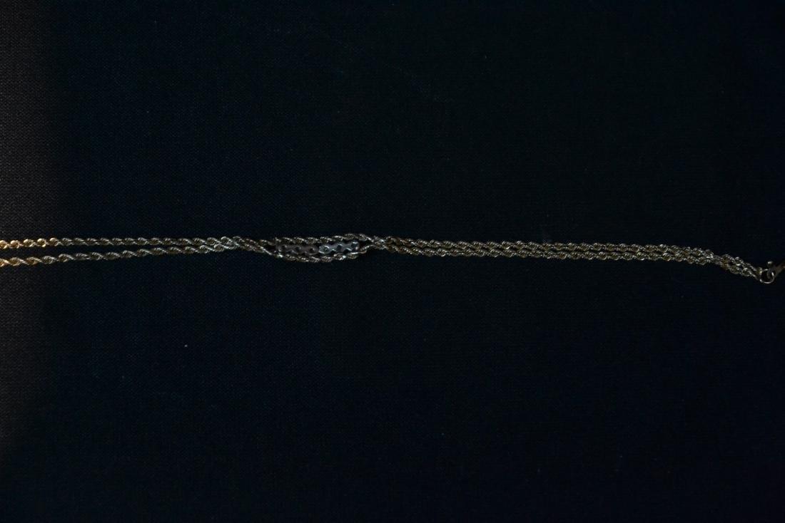 14kt GOLD & DIAMOND BRACELET - 7